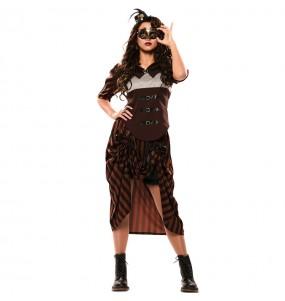 Costume Steampunk gotica donna per una serata ad Halloween