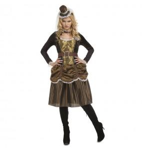 Costume Steampunk donna per una serata ad Halloween