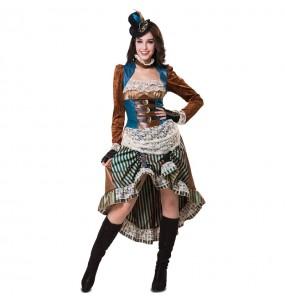 Costume Avventuriera Steampunk donna per una serata ad Halloween