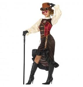 Travestimento Steampunk Vittoriano donna per divertirsi e fare festa