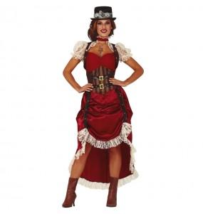 Travestimento Steampunk Vintage donna per divertirsi e fare festa