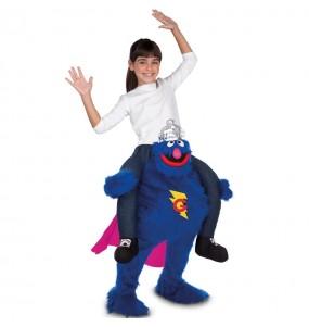 Travestimento Grover Sesame Street bambino a cavallucio che più li piace