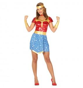 Travestimento Supereroe Wonder Woman donna per divertirsi e fare festa