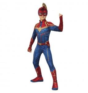 Travestimento Supereroina Capitan Marvel bambina che più li piace