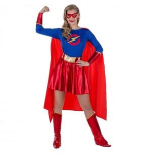 Travestimento Eroina Supergirl donna per divertirsi e fare festa