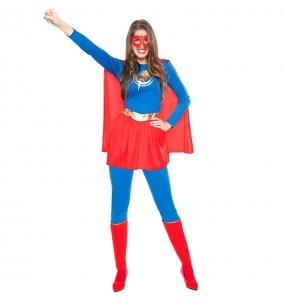 Travestimento Supereroina Fulmine donna per divertirsi e fare festa