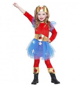 Travestimento Supereroina Wonder Woman bambina che più li piace