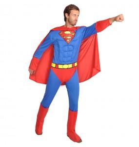 Costume da Superman muscoloso Classic per uomo