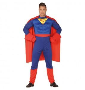 Travestimento Muscolare Supereroe Clark adulti per una serata in maschera