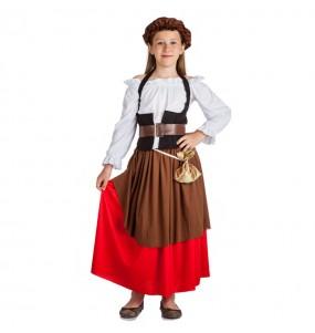 Travestimento Locandiera Medievale bambina che più li piace
