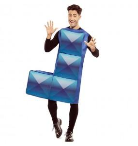 Travestimento Tetris blu scuro adulti per una serata in maschera