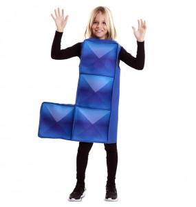 Travestimento Tetris blu scuro bambino che più li piace