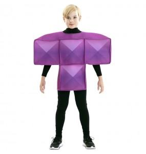 Travestimento Tetris viola bambino che più li piace