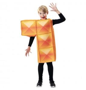 Travestimento Tetris arancione bambino che più li piace