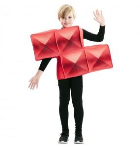 Travestimento Tetris rosso bambino che più li piace