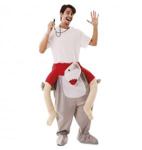 Costume sulle spalle squalo per adulti
