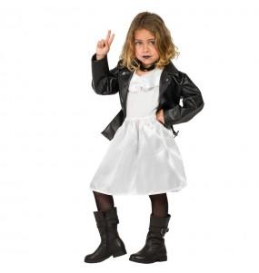 Vestito Tiffany Sposa di Chucky bambine per una festa ad Halloween