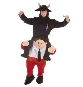 Travestimento adulto Torero con toro a cavallucio per una serata in maschera