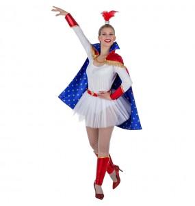 Travestimento Trapecista del Circo donna per divertirsi e fare festa