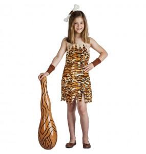 Costume da Troglodita selvaggia per bambina