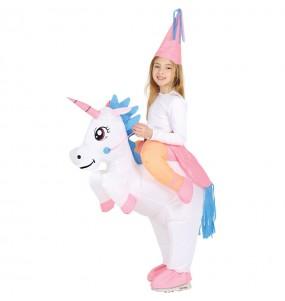 Travestimento Unicorno Gonfiabile bambino a cavallucio che più li piace