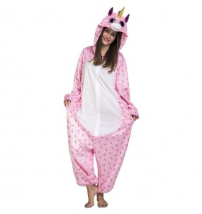 Travestimento Giapponese Unicorno rosa Big Eyes adulti per una serata in maschera