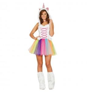 Travestimento Unicorno Multicolore donna per divertirsi e fare festa