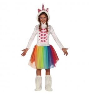 Travestimento Unicorno multicolore bambina che più li piace