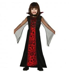 Vestito Contessa Vampira halloween bambine per una festa ad Halloween