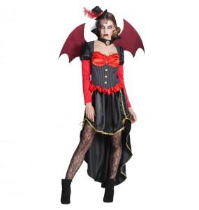Costume Vampira Vittoriana con ali donna per una serata ad Halloween