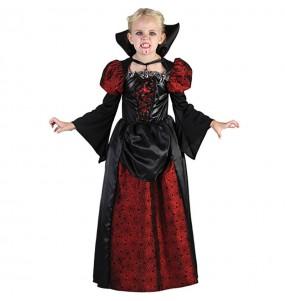 Vestito Contessa Vampira bambine per una festa ad Halloween