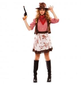 Travestimento Cowgirl Far West donna per divertirsi e fare festa