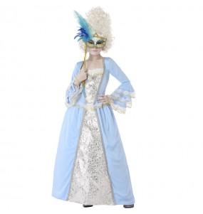 Travestimento Dama Veneziana Blu bambina che più li piace
