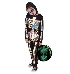 Costume da Zombie Skeleton per bambino
