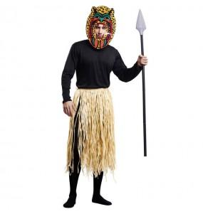 Travestimento Zulu Cannibale adulti per una serata in maschera