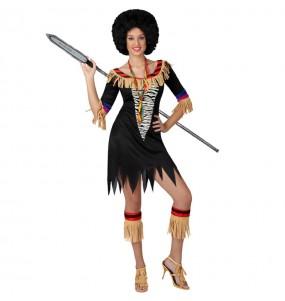 Travestimento Zulu donna per divertirsi e fare festa