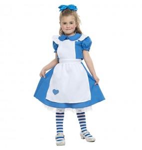 Costume da romanzo Alice per bambina