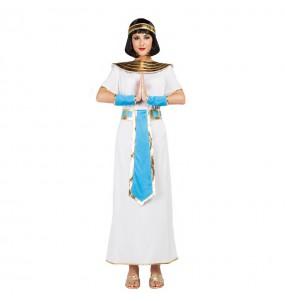 Travestimento Egiziana Blu donna per divertirsi e fare festa