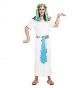 Travestimento Egiziano Blu adulti per una serata in maschera