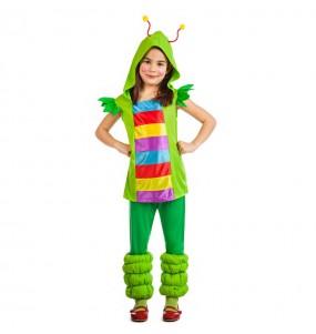 Travestimento Verme Multicolore bambina che più li piace