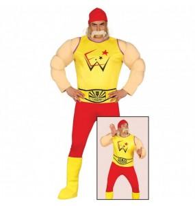Travestimento Hulk Hogan adulti per una serata in maschera