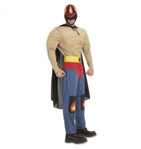 Travestimento Lottatore Messicano Rey Mysterio adulti per una serata in maschera