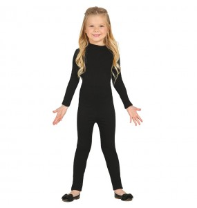 Travestimento Body in spandex nero bambina che più li piace