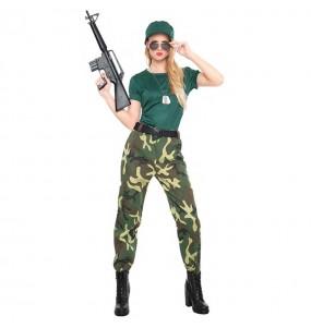 Travestimento Commando Militare donna per divertirsi e fare festa