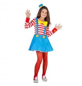 Travestimento Clown con Bretelle bambina che più li piace