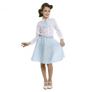 Travestimento Pin Up blu bambina che più li piace
