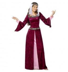 Travestimento Principessa Medievale Lady Marian donna per divertirsi e fare festa