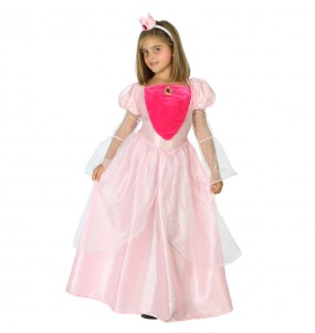 Travestimento principessa rosa di lusso bambina che più li piace
