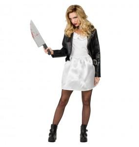 Costume Tiffany Sposa di Chucky donna per una serata ad Halloween