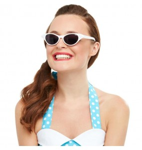 I più divertenti Occhiali Grease bianchi per feste in maschera